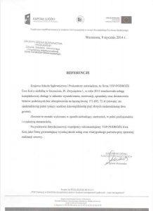referencje Krajowa Szkoła Sądownictwa i Prokuratury