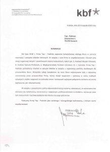 referencje Krakowskie Biuro Festiwalowe