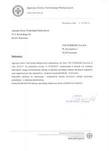 referencje Agencja Oceny Technologi Medycznych