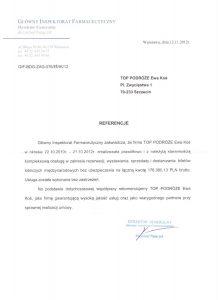 referencje Główny Inspektorat Farmaceutyczny