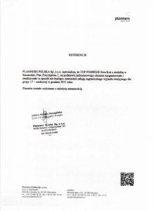 referencje Planners Polska Sp. z o.o.