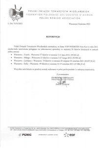 referencje Polski Związek Towarzystw Wioślarskich