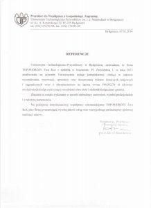 referencje Uniwersytet Techniczno-Przyrodniczy w Bydgoszczy